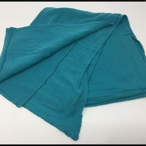Soft thin material blue teal turquoise Gap scarf